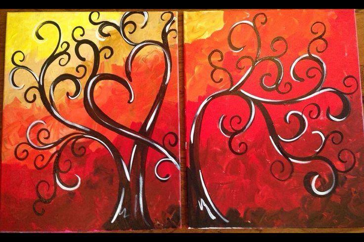 Date night painting | ~ Valentines Date Night ~ | Pinterest | Yö,Maalaukset  ja Treffi-illat