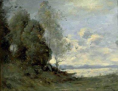 Paul-Désiré Trouillebert (tabl) Bords de la Loire, huile s toile (musée des Beaux-arts, Cambrai) - Paul-Désiré Trouillebert — Wikipédia