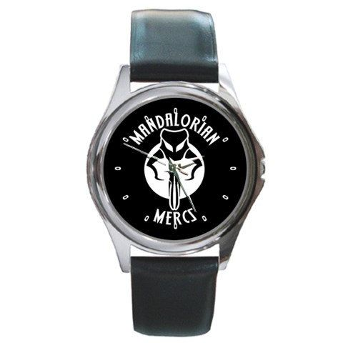 Untique watches mandalorian mercs logo Round by nonoaslino on Etsy