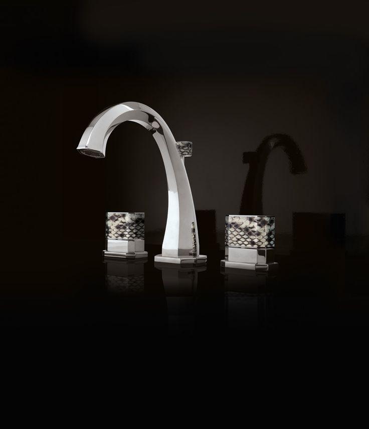 brass made taps with precious skins
