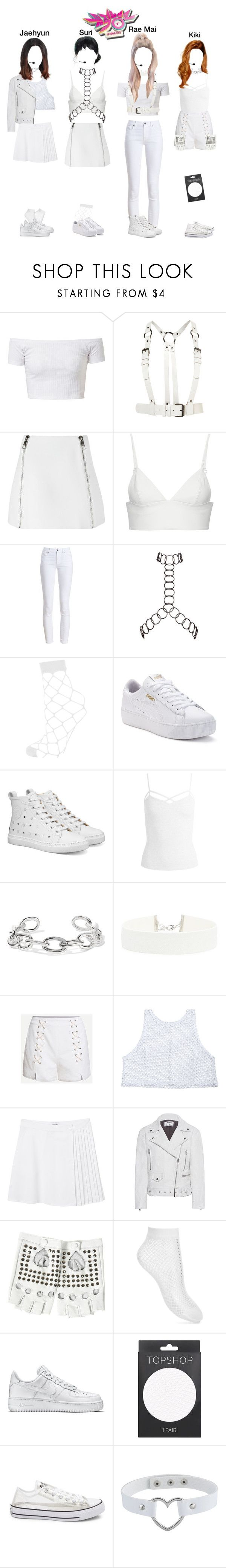 """""""Hazard(위험) - """"Whatta Man"""" Goodbye Stage on Music Bank"""" by epilxgue ❤ liked on Polyvore featuring Neil Barrett, T By Alexander Wang, Barbour, Fannie Schiavoni, Topshop, Puma, Sans Souci, Jennifer Fisher, Forever 21 and Monki"""