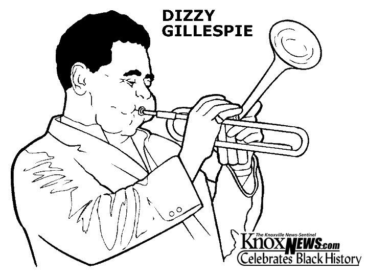 Image Result For Coloring Sheet Of John Coltrane Black History