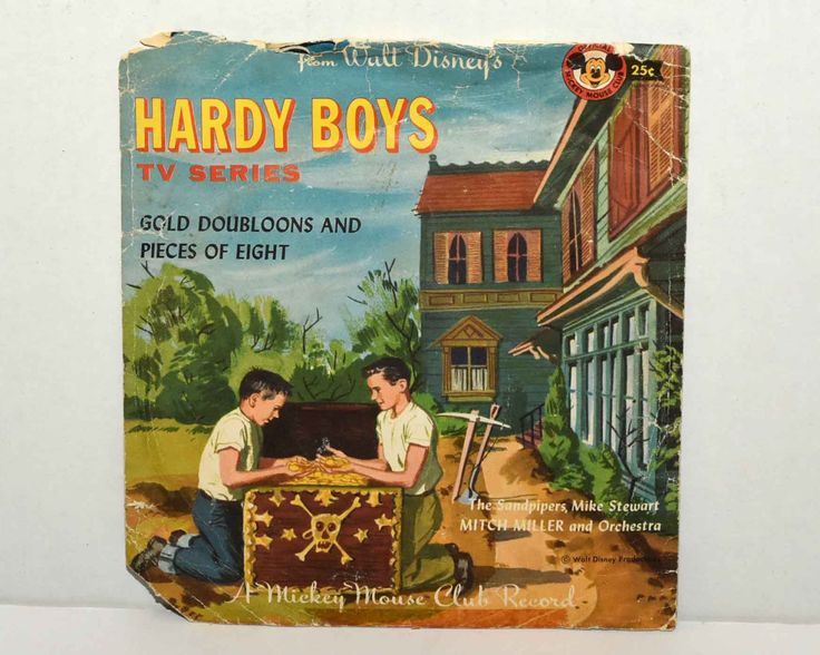 Walt Disney's Hardy Boys  TV Series  --  Gold Doubloons and Pieces of Eight -- Mickey Mouse Club  --1950's