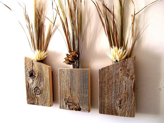 25 best ideas about wall vases on pinterest hanging for Wood vases for centerpieces
