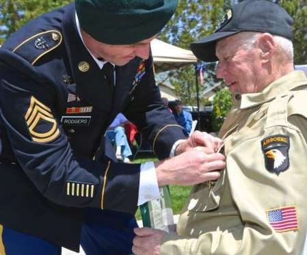 7 decades later, Nevada WWII vet awarded Purple Heart
