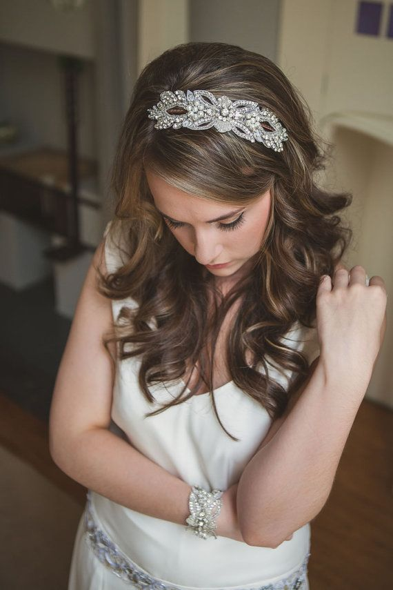Bridal headband, Bridal Headpiece, Bridal hairbandhair comb, hair accessories, silver leaf vintage wedding, wedding hairpiece