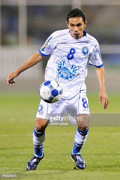 Osael Romero of El Salvador controls the ball against Canada during a CONCACAF Gold Cup match at Crew Stadium on July 7 2009 in Columbus Ohio