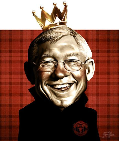 Caricature of Sir Alex Ferguson/El grafico magazine/Argentina - Football Caricatures and Illustrations by Gonza Rodriguez, via Behance