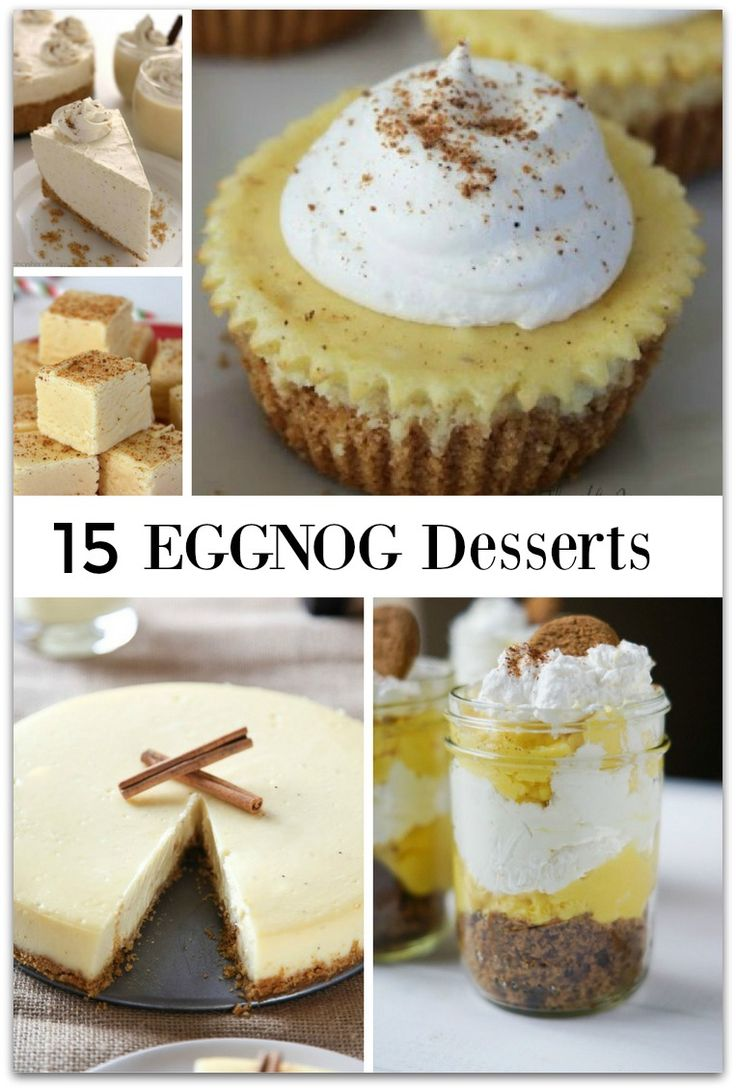 As much as I enjoy eggnog when the holidays roll around, I've never thought about making eggnog desserts. In fact, I've never even seen an eggnog dessert at a party