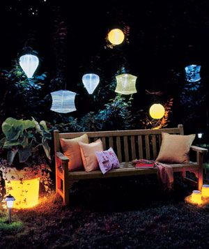 Most solar lights last for 4 hours, so if your gathering will go longer, have a back up plan.