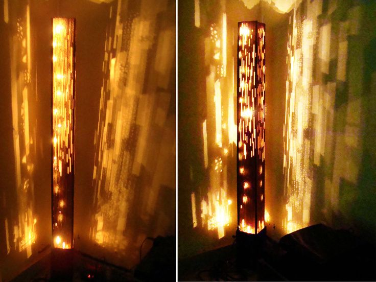 Delightful Floor Lamp Is Made Out Of Reused Cardboard Boxes. Nice Design
