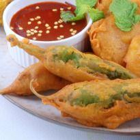 Rajasthani Mirchi Vada: This is a popular street snack of Rajasthan also known as Jodhpuri Mirchi Vada.