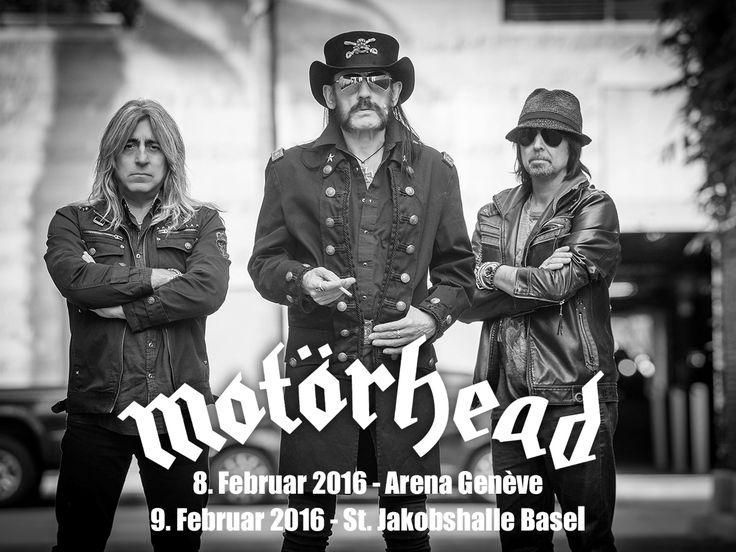 #Motörhead sind nicht Tot zukriegen und kommen mit dem neuen Album zweimal in die Schweiz! Am 8.2.16 in die Arena Genf und am 9.2.16 in die St. Jakobshalle Basel. Tickets on sale ab dem 13.8.15 um 8 Uhr auf ticketcorner.ch