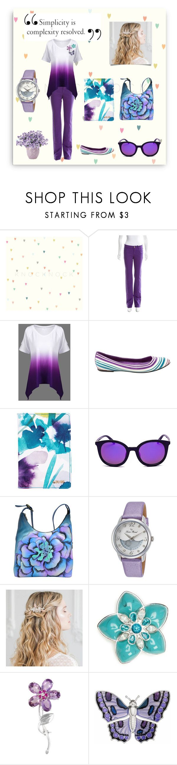 """""""Casual: Tuesday in the Park"""" by laine-feen ❤ liked on Polyvore featuring Versace, Louis Vuitton, Anuschka, Lucien Piccard and Napier"""