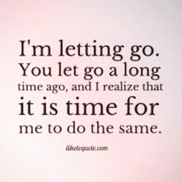 Some day I will be able to let go...Hoping for sooner than later :'(                                                                                                                                                                                 More