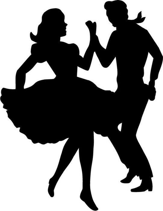 Tanzen Clipart Schwarz Weiß