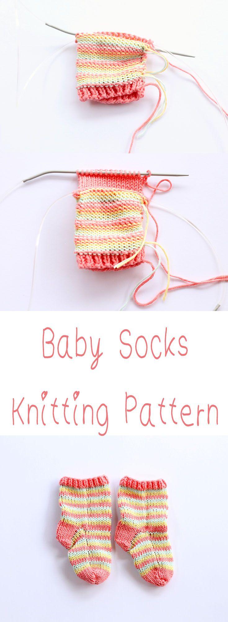 Baby Socks Knitting Pattern | Schuhe für Babys, Baby stricken und ...
