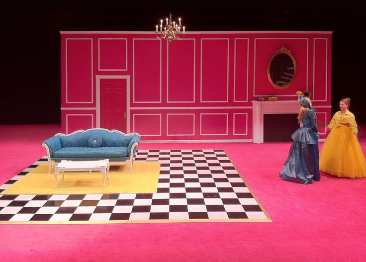 Boston Marriage. The Julliard School. Scenic design by Alexis Distler.