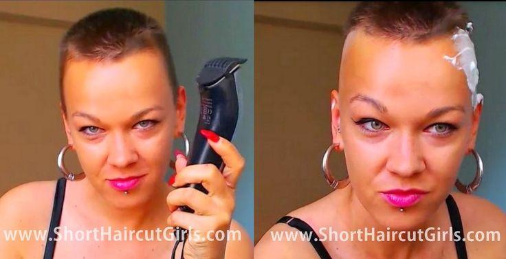 Live Jasmin model shaves bald...
