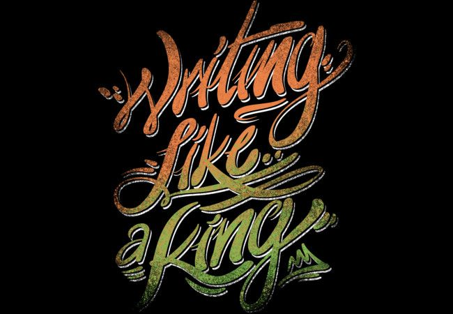 Writing like a King Artwork for T-shirt, Hoodie and more