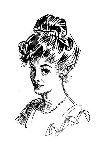 1916 Charles Dana Gibson Beauty Sketch from his book 4 by carlylehold, via Flickr