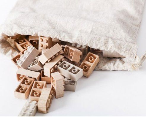 I really, really WANT these!  Wooden LEGOs from Mokurukku: A non-plastic alternative : TreeHugger