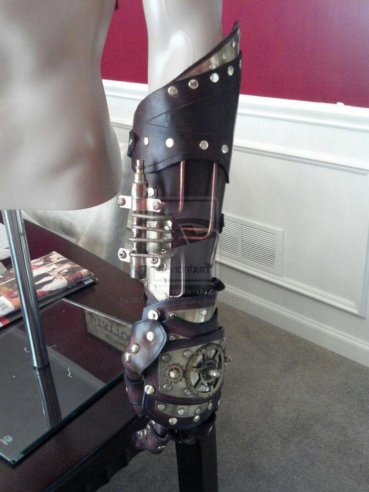 Steampunk Mechanical Arm | Steampunk mechanical arm - WIP by Blood-Sweat-N-Gears