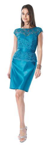 Vestido de fiesta corto color azul www.vestidosmx.com