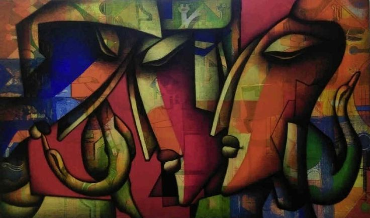 Jagannath Paul-  Immersed in Love Painting. Discover @Treniq