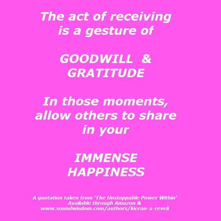 As you show gratitude and goodwill on receiving, you allow others to share in your happiness! #generosity #trust #hope #bestoftheday #encouragement #daily #tolerance #motivation #picoftheday