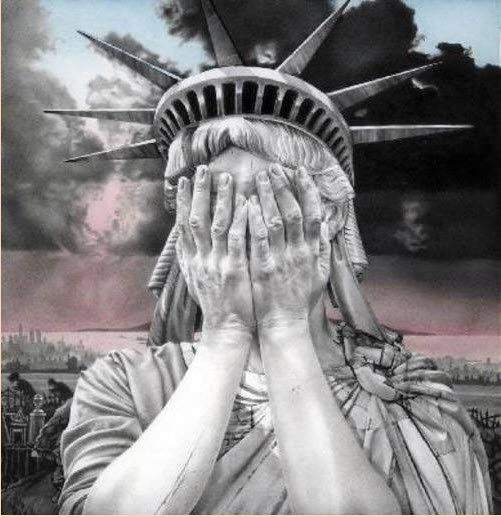 statue of liberty crying - Google Search
