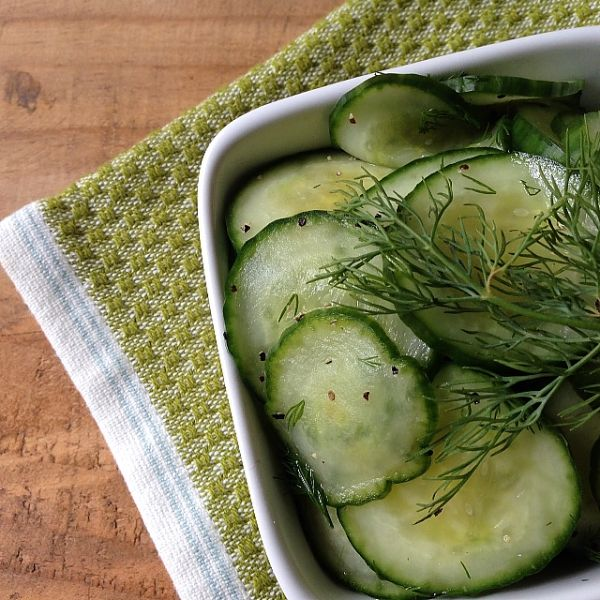 Cucumber-Dill Salad | Quick & Easy | Pinterest