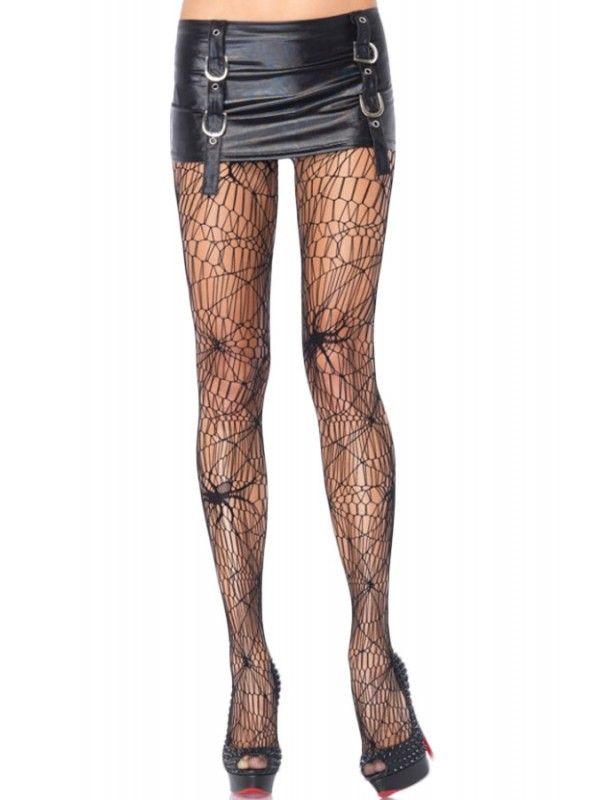 Leg Avenue Women's Black Spider Net Pantyhose