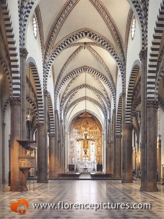 Interior View of Santa Maria Novella