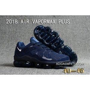 2c7e23da7bfd5 Nike Air VaporMax Plus Mens Navy Blue White Discount in 2019 ...