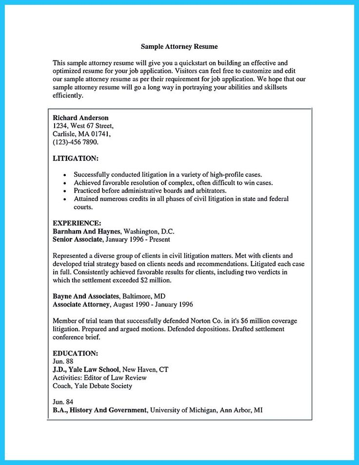 nice Arranging a Great Attorney Resume Sample, Check more at http - senior attorney resume