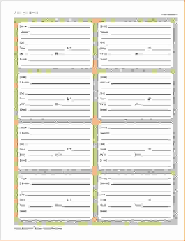 40 Printable Editable Address Book Templates 101 Free