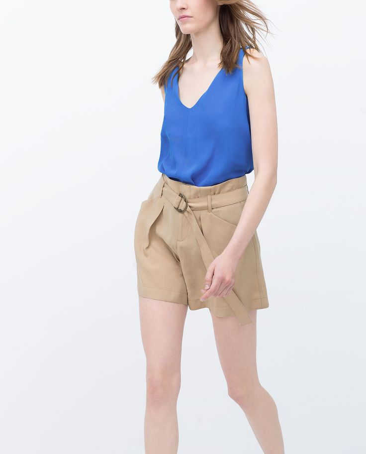 Image 3 of BERMUDA SHORTS WITH FRONT PLEAT AND POCKETS from Zara