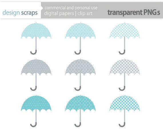 umbrella clip art graphics bridal shower wedding by ...