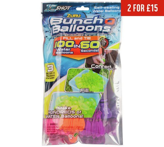 Buy XShot Bunch o Balloons Water Bombs at Argos.co.uk - Your Online Shop for Water toys and games, Paddling pools and water games, Outdoor toys, Toys.