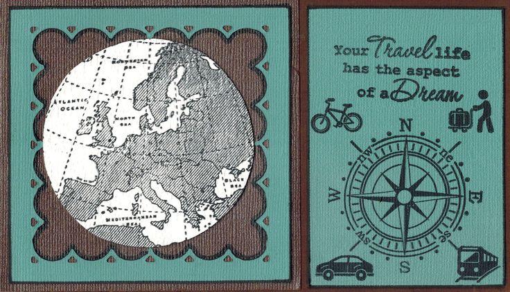 Hier is de Europa stempel van Marianne D gebruikt. De tekst en de icoontjes zijn van de stempelset Around the world/Your travel Life. Verkrijgbaar bij http://www.multihobby.nl/marianne-design-stempels-nederland-europa-en-wereld#