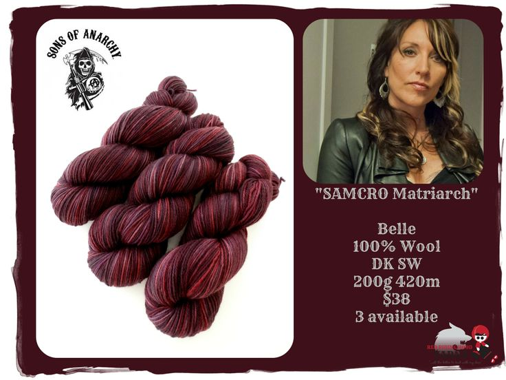 SAMCRO Matriarch - Sons of Anarchy / Red Riding Hood Yarns