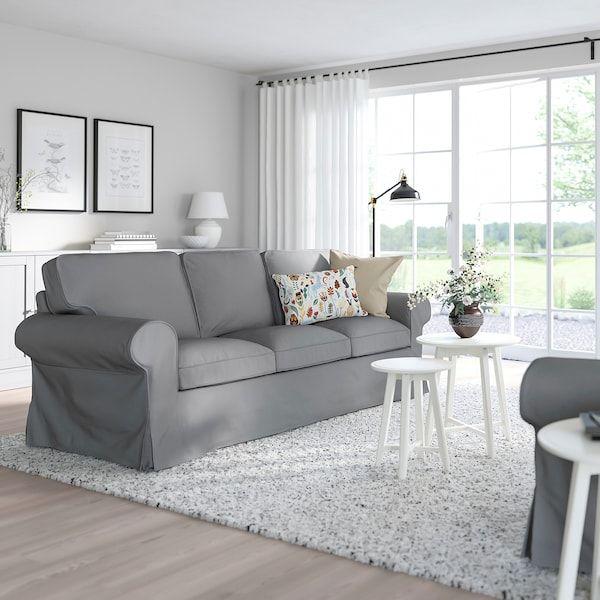 IKEA EKTORP Cover for armchair Remmarn light grey