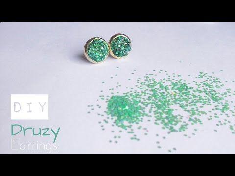 DIY Druzy Earrings  - La creme