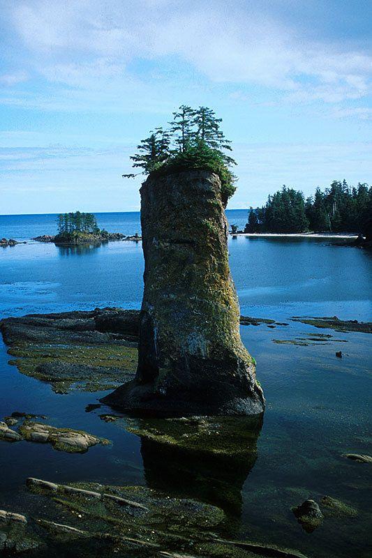 Pillar Rock in Naden Harbour, Graham Island, Haida Gwaii (Queen Charlotte Islands), British Columbia, Canada