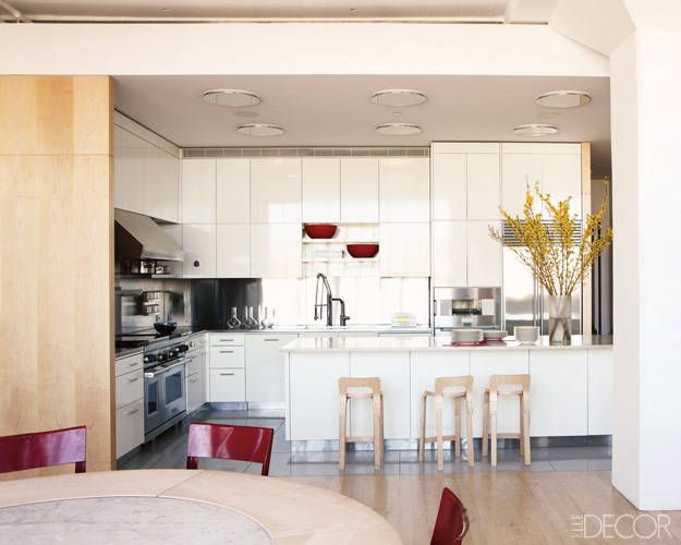 A Colorful and Simple Tribeca Loft - ELLE DECOR