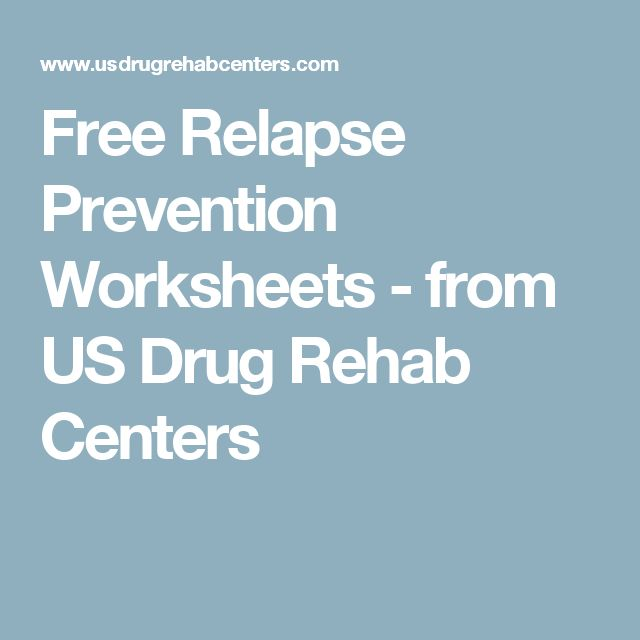 substance abuse relapse prevention plan pdf