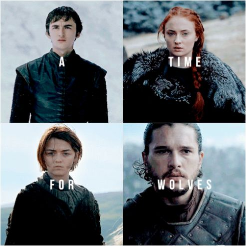 The winters are hard, but the Starks will endure    House Stark    Game of Thrones    A Song of Ice and Fire    Brandon Stark, Sansa Stark, Arya Stark, Jon Snow