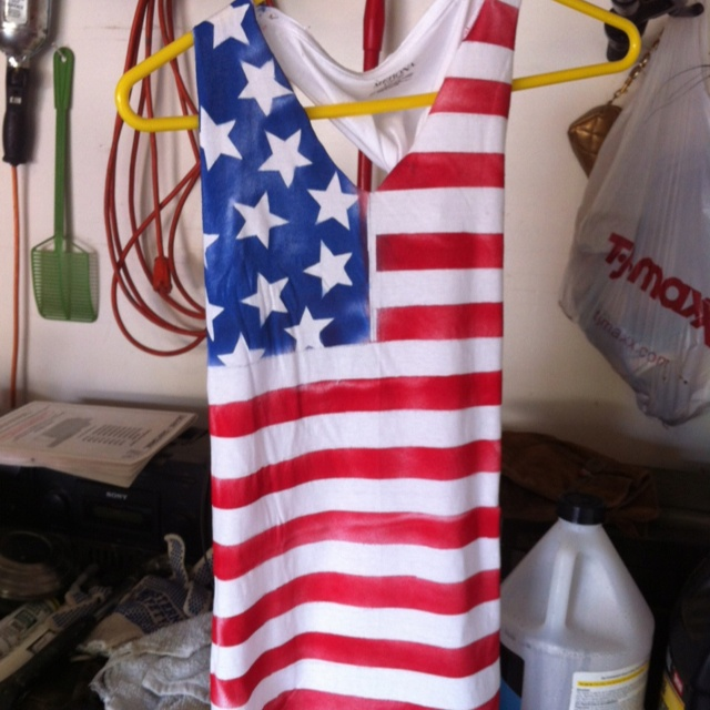 DIY forth of July tank! Came out pretty good :)