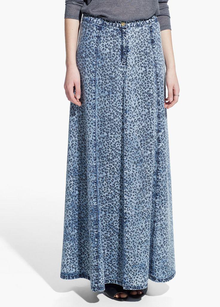 Langer jeansrock - Röcke für Damen   OUTLET Deutschland